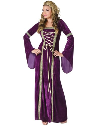 FunWorld 188225 Renaissance Lady Kost-m - Purple - Medium-Large - (Lady Adult Kostüme Renaissance)