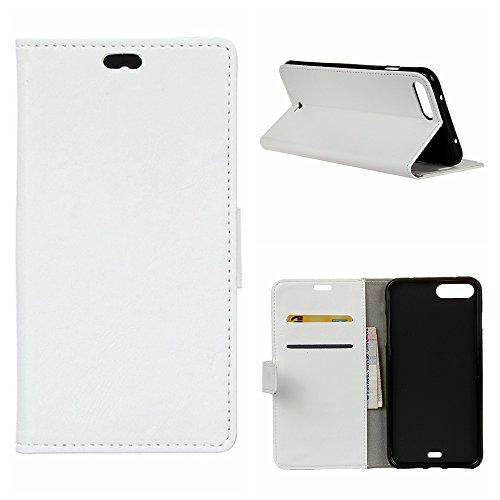 MOONCASE iPhone 7 Plus Bookstyle Étui Housse en Cuir Case Support à rabat Coque de protection Portefeuille TPU Case pour iPhone 7 Plus Voilet Blanc