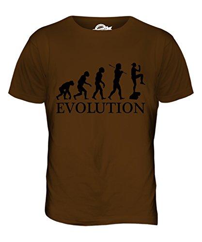 CandyMix Aerobic Evolution Des Menschen Herren T Shirt Braun