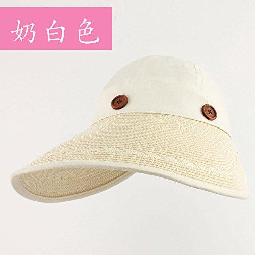 LLZTYM Women/Summer/Anti Ultraviolet/Sunshade/Outdoor/Gift/Headwear/Hat white