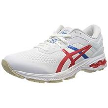 Asics Gel-kayano 26, Women's Running shoe, WHITE / CLASSIC RED, 5.5 UK (39 EU)