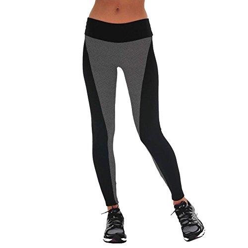 068cbf9974 Vogholic Women's High Waisted Stretch Spandex Long Sport Fitness Leggings  Grey M