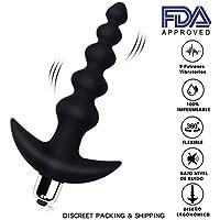 Eléctrico Vibrador de Silicona LEVETT para Masaje de Próstata Consolar Anal con 14 Velocidad y 3 Motores para Estimulación Completa del Cuerpo