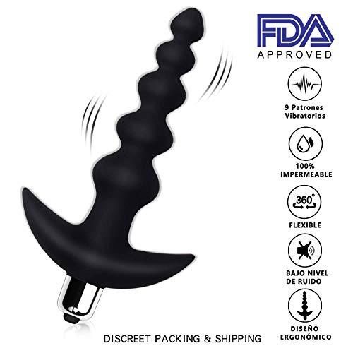 Silikon Anal vibrator/Analkugeln Adorise Prostata Vibratoren Analvibrator Massagegerät Stimulator Analplug Butt Plug mit 10 Vibrationsmodi