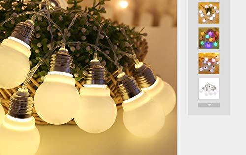 lichterkette große kugel glühbirne lichterkette batterie leuchtet weihnachtsdekoration zimmer 1.5m10 lampenbatterie ()