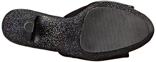 Pleaser Kiss 201mg, Sandali Donna Nero (Black (Blk/Blk Glitter))