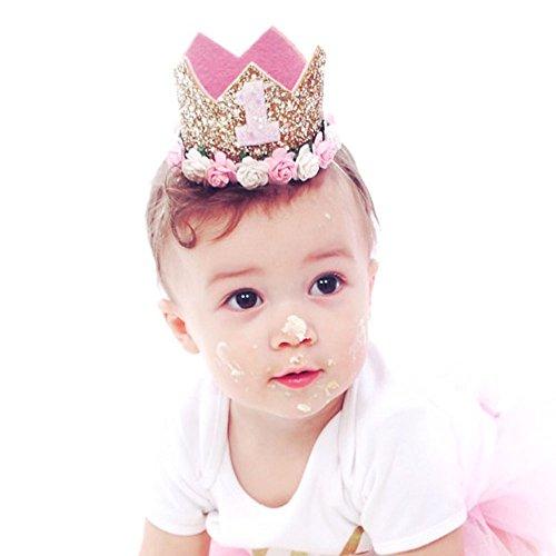 Missley Baby Crown Headband Rose Flower