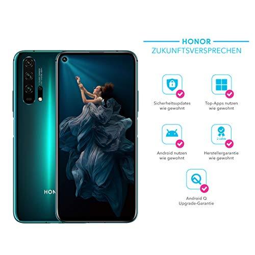 HONOR 20 Pro Dual-SIM Smartphone Bundle (6,26 Zoll, 256GB ROM, 8GB RAM, Android 9.0) Phantom Blue + 48MP AI Quad Kamera + gratis MicroUSB zu USB Typ-C Adapter [Exklusiv bei  ] - Deutsche Version