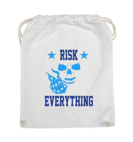 Turnbeutel everything Weiss Neongrün Hellblau Farbe Weiss Comedy 37x46cm Royalblau Bags Risk Schwarz RqwWzFnEtx