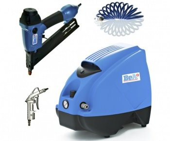 Preisvergleich Produktbild Bea Power Package Kompressor K160-6+Schlauch+Blaspistole+ Nagler SKAM350-226