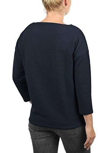 9accda9c268b73 DESIRES Jona Damen Sweatshirt Pullover Sweater mit U-Boot Ausschnitt aus  hochwertiger Baumwollmischung Insignia Blue