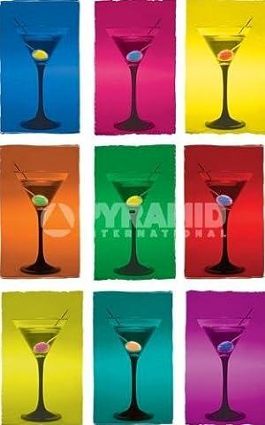 Martini Glas Cocktail Pop Art Großer Art Poster 61x 91,5cm