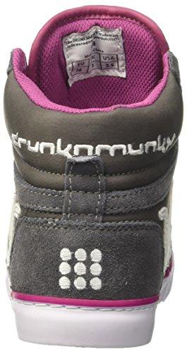 Drunknmunky Boston Classic, Baskets Gris Femme (graypurple)