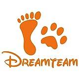kleb-Drauf® | 1 Dreamteam | Orange - matt | Autoaufkleber Autosticker Decal Aufkleber Sticker | Auto Car Motorrad Fahrrad Roller Bike | Deko Tuning Stickerbomb Styling Wrapping