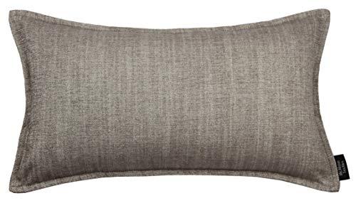 McAlister Textiles Rhumba Kissenbezug | 50cm x 30cm in Taupe Beige | Deko Kissenhülle für Sofa, Kissen, Sessel, Couch aus Leinenmischung