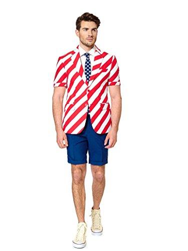 Opposuits Sommeranzug United Stripes L (Kostüm Brown James)