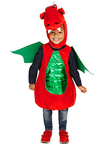 st-david-or-george-day-red-dragon-padded-fancy-dress-book-week-costume-5-6yrs-made-by-marks-spencer