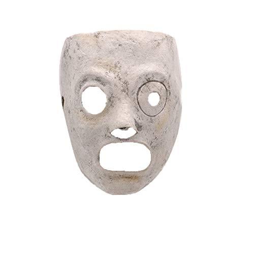 SilenceID Gruselige Maske Halloween Walking Dead Maske Party Cosplay Requisiten Kostüm Latex Zombie Kopf Maske für Männer (Heilig Geist Kostüm)