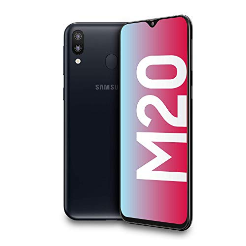 Samsung Galaxy M20 Display 6.3', 64 GB Espandibili, RAM 4 GB, Batteria 5000 mAh, 4G, Dual SIM Smartphone, Android 8.1.0 Oreo Nero (Charcoal Black) [Versione Italiana]