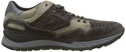 Stonefly Herren Warren 4 Velour Oil Sneaker Grau (Charcoal 1a12)