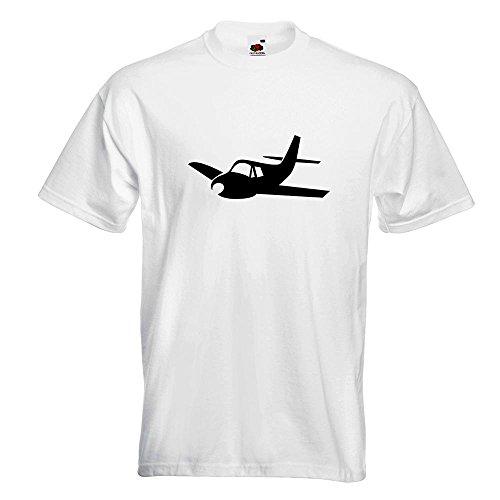 KIWISTAR - Flugzeug - Segelflugzeug - Gleiter T-Shirt in 15 verschiedenen Farben - Herren Funshirt bedruckt Design Sprüche Spruch Motive Oberteil Baumwolle Print Größe S M L XL XXL Weiß