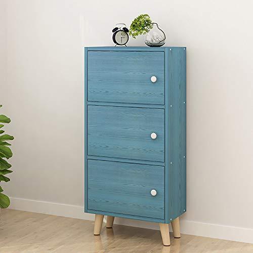 Armadietto di legno con 3 cassetti - cassettiere da comodino autoportanti cassettiera da terra - per corridoio camera da letto e soggiorno lucido robusto ed elegante