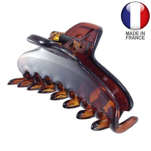 340 – 003 – Pince pour cheveux français plate cm 6 – Tortue – Pinces pour Cheveux
