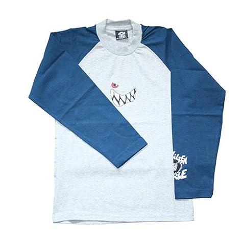 Wilde Kerle Raglan Longsleeve, grau-blau, Größe 164