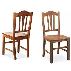 Modelli Sedie In Legno.Sedia Da Pranzo Silvana Massello In Legno Di Faggio Color Ciliegio