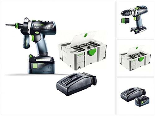 Preisvergleich Produktbild Festool DRC 18/4 Li-Basic Starter Akku Bohrschrauber im Systainer mit 1x BP 5,2 Ah Akkupack und TCL 6 Ladegerät