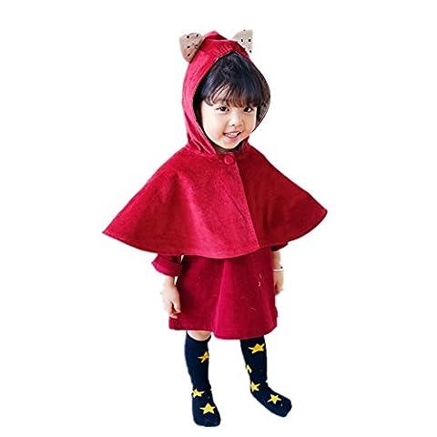 Fille bébé bodies enfants Cape Cape Costume Barboteuse avec oreilles de lapin à capuche Manteau Vêtements Robe de princesse