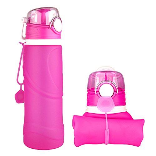 Ksweet Botella de Agua Plegable de gel de Sílice sin BPA 750ml botell