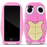 Zooky® rosa Schildkröte Hülle / Schutzhülle / Cover für Apple Iphone 5 / 5S / SE