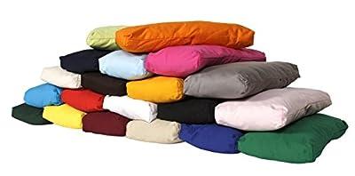 TriYoga Bolster klein Made in Germany, 37 x 18 x 4 cm, Innenkissen gefüllt mit 100% Kapokfasern, Innen- und Außenhülle aus 100% Baumwolle, Außenhülle maschinenwaschbar bis 30º C