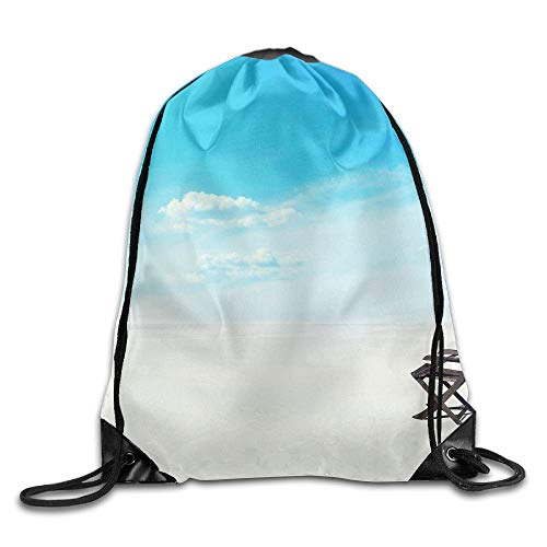 HLKPE Cool Sunny Beach Chair Drawstring Bag for Traveling Or Shopping Casual Daypacks School Bags