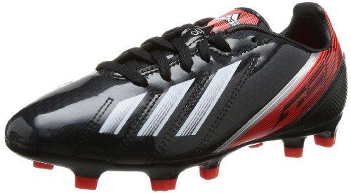 adidas F10 TRX FG J, Chaussures de football garçon Noir - Schwarz (Black 1 / Running White Ftw / Infrared)