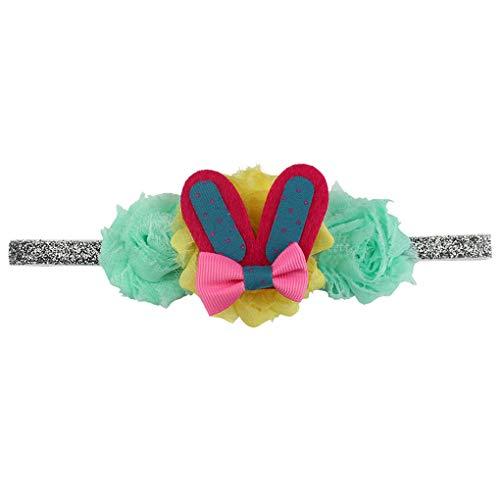 1 Stück Oster Hasen Ohren Stirnband/Dorical Baby Kleinkinder Ostern Stirnbänder für Ostern Party Birthday Dekoration Haarreif Stirnband Geschenk Haarschmuck mit Ohren für Ostern(C)