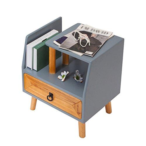 ZGYQGOO Nachttisch Schubladenschrank Der Nachttisch Schrank des Schlafzimmers Klassifizierte Aufbewahrung Von Ideen Massivholztisch 1 Schublade Sofa Tisch Schreibtischlampe Tisch (Farbe: B) -