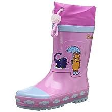 Playshoes Unisex Kids' Wellies Rain Boot Die Maus Wellington Rubber, Pink (rosa 14), 6 UK Child 22/23 EU