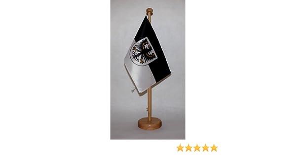 AZ FLAG TISCHFLAGGE OSTPREU/ßEN 21x14cm flaggen OSTPREUSSEN TISCHFAHNE 14 x 21 cm