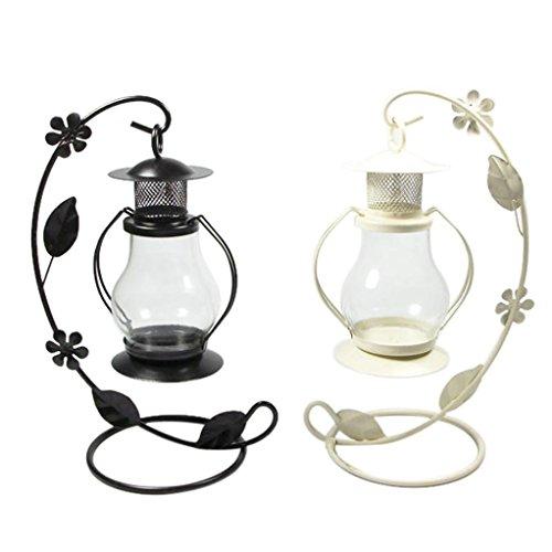 upxiang New Vintage Kerzenhalter Romantic-Home Party Hochzeit Halloween Decor schwarz