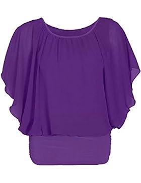 EASY BUYY - Camiseta de manga larga - Cuello redondo - para mujer