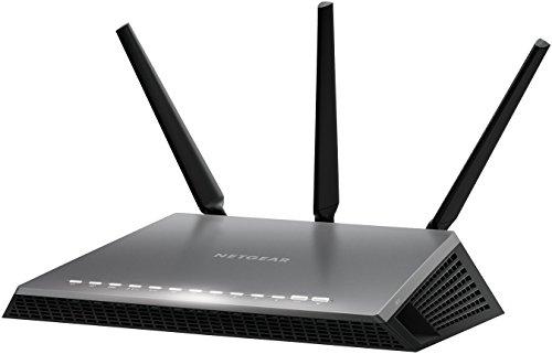 Netgear D7000-100PES AC1900 Nighthawk Wi-Fi Modem Router, VDSL/ADSL/Fibra, 4 Porte Gigabit, 1 Porta WAN, Processore Dual Core, 3 Antenne Esterne, Nero