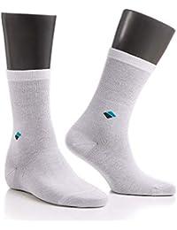 Calcetines para diabéticos, plata (22% plata), materiales de alta calidad, sin poliamida blanco Blanco 43-46