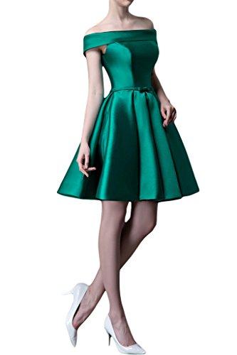 Ivydressing Damen A-Linie Liebling U-Ausschnitt Ab von der Schulter Partykleid Ballkleid Abendkleid Grün