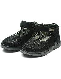 MS003 Miss Sixty Mary Jane Shoe Ankle Strap for Girls in Lace Effect >> Zapato con cierre de correa del tobillo de las niñas en Efecto del cordón