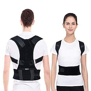 EZILIF Rückenstütze Geradehalter zur Haltungskorrektur für Eine Bessere Körperhaltung und Unterstützung, Rückenstabilisator gegen haltungsbedingte Rücken und Nackenschmerzen für Damen und Herren