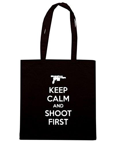 T-Shirtshock - Borsa Shopping TM0469 keep calm and shot first Nero