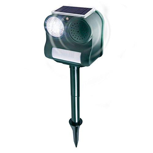 Gardigo Solar Vogelabwehr | Ultraschall und Blendlicht gegen Vögel | Schonend und effektiv | Für Garten und Balkon | Deutscher Hersteller