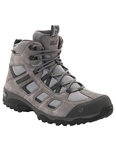 Jack Wolfskin Herren Vojo Hike 2 Texapore MID M Wasserdicht Trekking-& Wanderstiefel, Grau (Tarmac Grey 6011), 45.5 EU